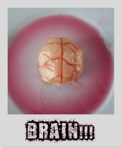 pomme,challenge halloween 2014,brain,cerveau