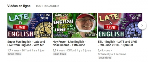 Speak english with Mr Duncan, Youtube, english,live english