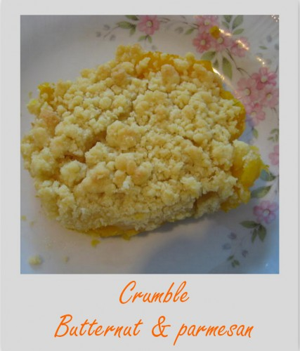 courge,courge butternut,crumble,challenge halloween 2014