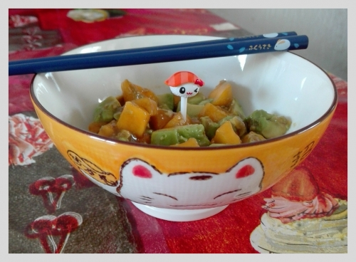 salade mangue avocat, cuisine japonaise